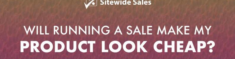 Banner for post: Will running a sale make my product look cheap?