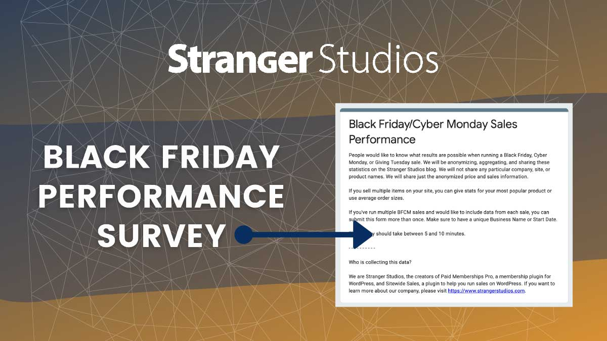 Banner for Black Friday Performance Survey post